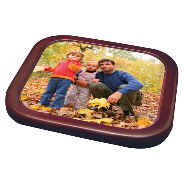 Mahogany Frame Square Coaster