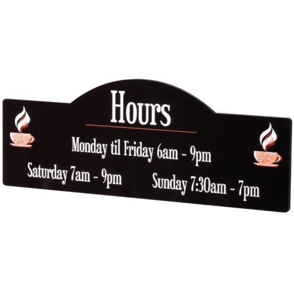 Display Shape Glossy Hardboard Sign
