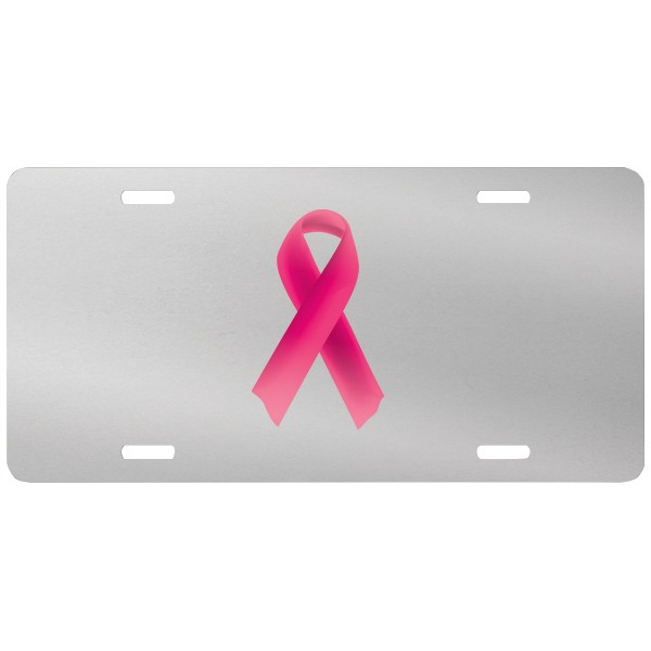 Glossy Silver .045 Aluminum License Plate