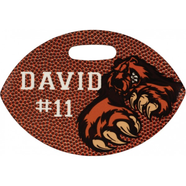 Glossy Plastic Football Bag Tag
