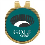 Antique Gold Hat Clip with Custom Golf Ball Marker