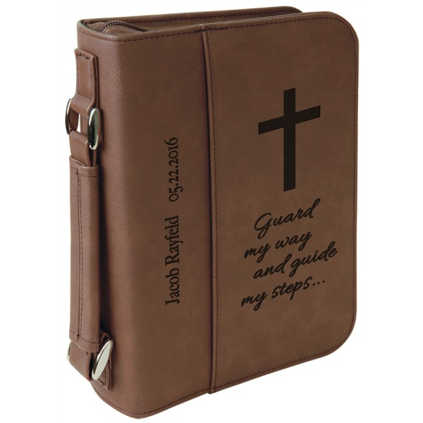 Dark Brown Leatherette Book/Bible Cover