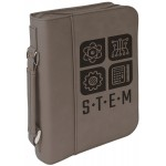 Gray Leatherette Book/Bible Cover