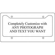 Fully Custom License Plate Frame