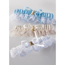 Gold Boot Garter, Blue