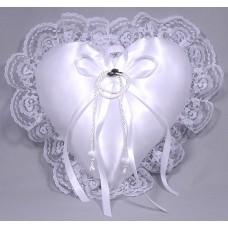 Hats Off Heart Ring Pillow