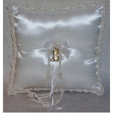 Gold Boots Ring Pillow