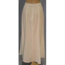 Long Flared Skirt, White