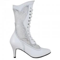 Chapel Bridal Boots, White