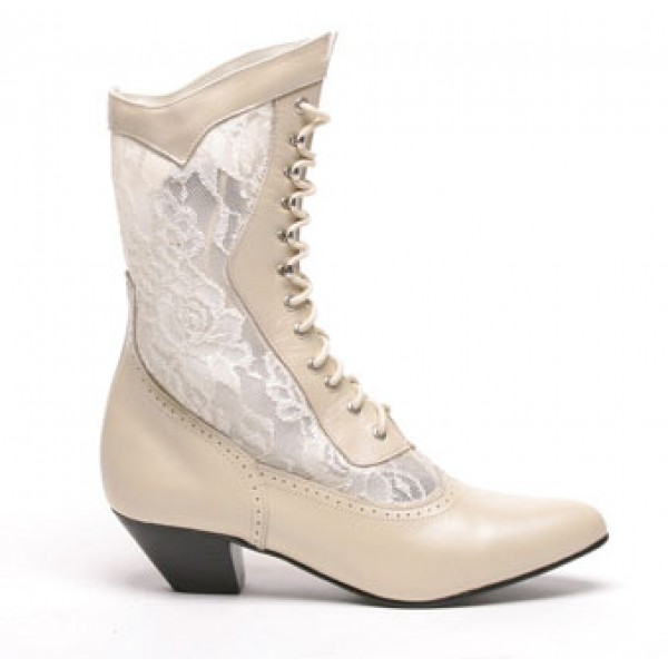Cathedral Bridal Boots, Ivory