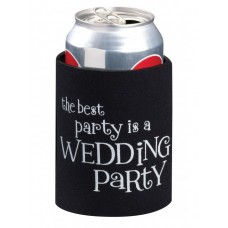 Black Wedding Party Can Koozie