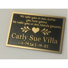 Holly Quick Memorial Cast Bronze Plaque