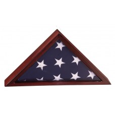 Rosewood Piano Finish Flag Display Case for 3' x 5' flag