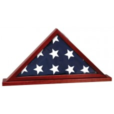 Rosewood Piano Finish Flag Display Case for 5' x 9 1/2' flag with Base