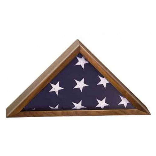 Walnut Finish Flag Display Case for 3' x 5' flag