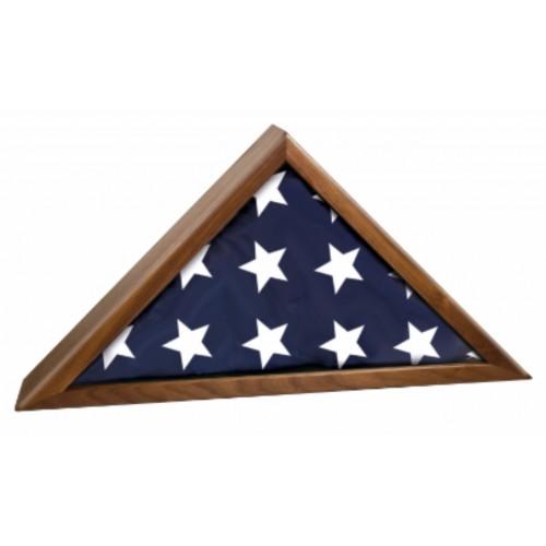 Walnut Flag Display Case for 5' x 9 1/2' flag