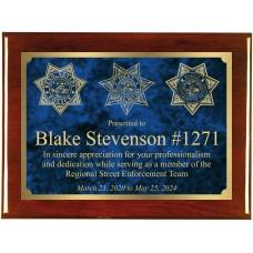 Street Enforcement Team Rosewood Engraved Plaque