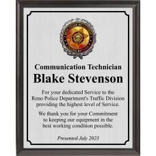Traffic Division Plaque