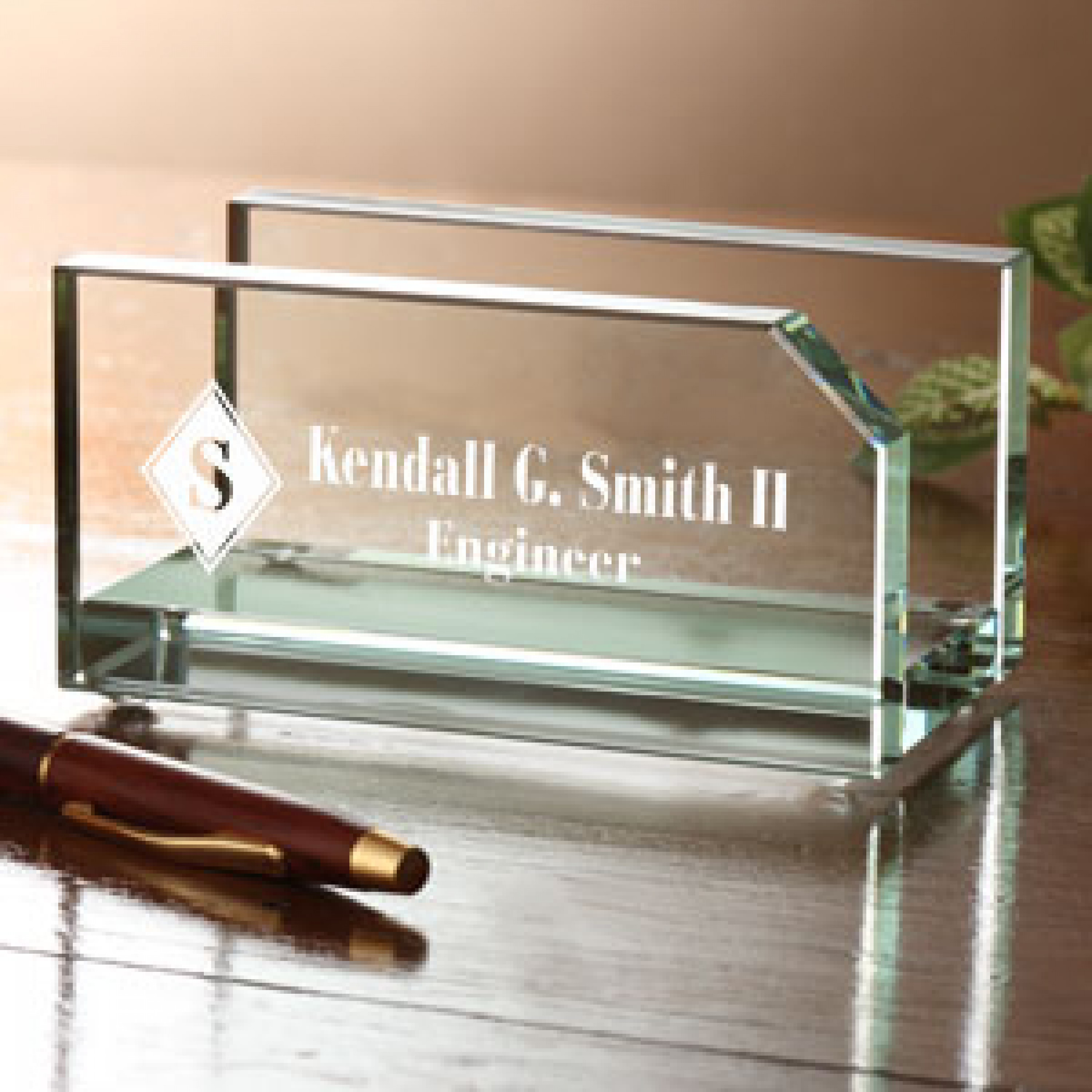 Glass Desk Accessories