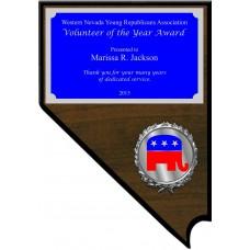 Economy Nevada Shaped Plaque