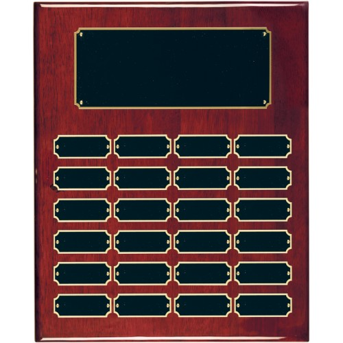 24 Plate Rosewood Piano Finish Completed Perpetual Plaque