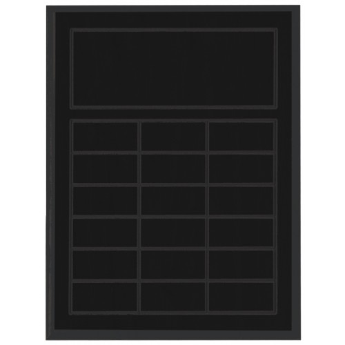Routed Full-Color Perpetual Plaque, Black