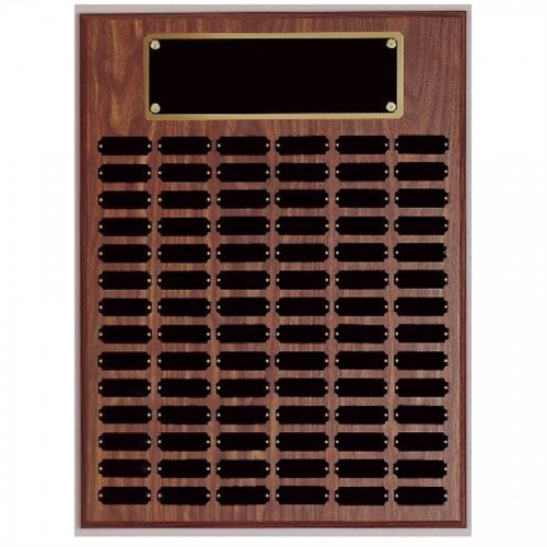 84 plate Genuine Walnut Completed Perpetual Plaque