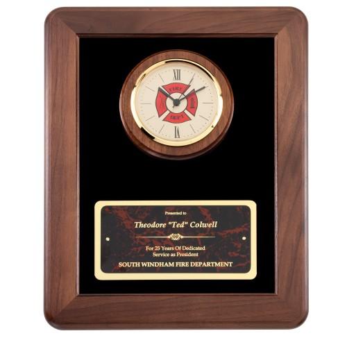 American Tribute Series Firefighter Plaque Clock