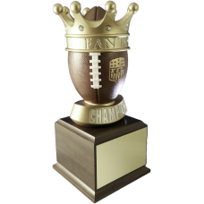 Gold Crown Fantasy Football Trophy