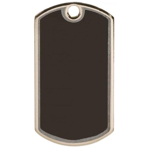 2 inch Black-Silver Blank Dog Tag