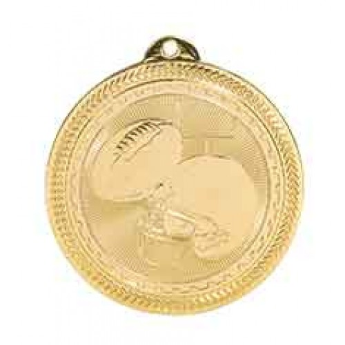 Football BriteLazer Medal with Neck Ribbon