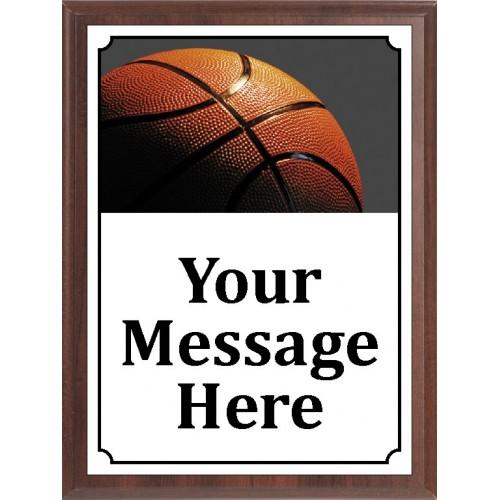 Hi-Res Basketball Plaque