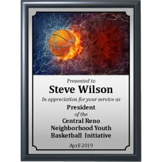 Fire and Ice Basketball Plaque