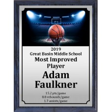 Ball in Hand Basketball Plaque