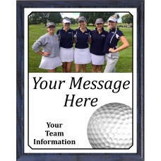 Economy Heat Transfer Team Photo Plaque, Golf