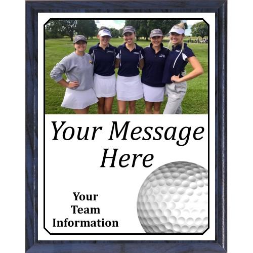 Economy Heat Transfer Team Photo Plaque, Golf