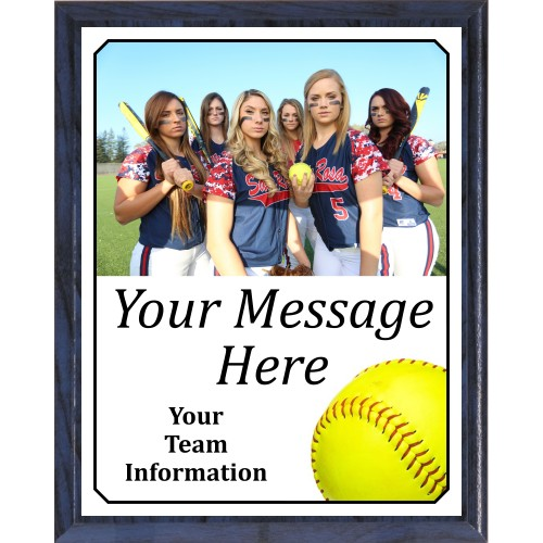 Economy Heat Transfer Team Photo Plaque, Softball