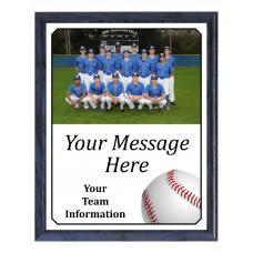 Economy Heat Transfer Team Photo Plaque, Baseball