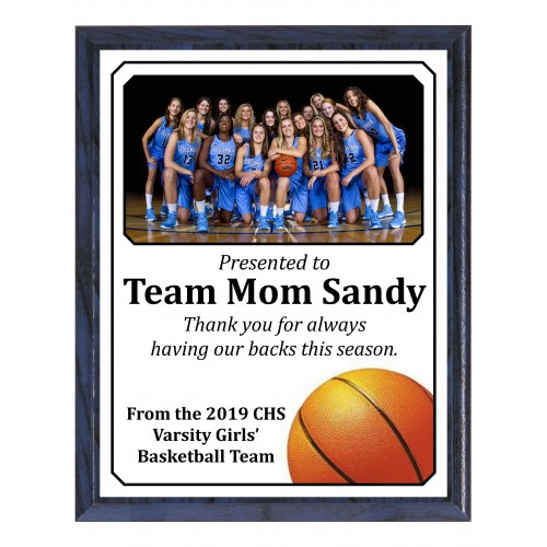 Economy Heat Transfer Team Photo Plaque, Basketball