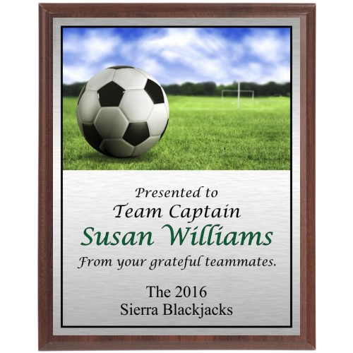 Soccer Goal Scene Plaque