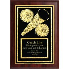 5x7 Economy Plaque with Engraved Cheer Plaque Plate