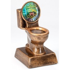 Antique Gold Toilet Loser Award With Insert