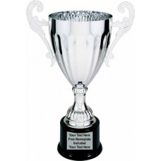 Silver Metal Cup Trophy on Plastic Base, 12""