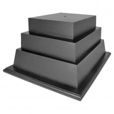 3-Tier Walnut Perpetual Base, Black