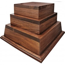 3-Tier Walnut Perpetual Base