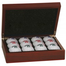 Rosewood Finish Golf Ball Box